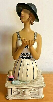 Jewellery Display Stand Necklace Holder Lady Figure Plaster With Ring Drawer • 15£
