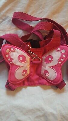 Pink Butterfly Toddler Safety Reins Baby Harness • 4.95£