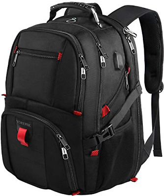 $38.06 • Buy Travel Backpacks For Men, Extra Large College School Laptop Bookbags With USB 17