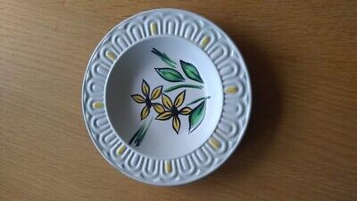 Lancastrian Pottery  Small Side Plate Yellow Flowers • 4.49£