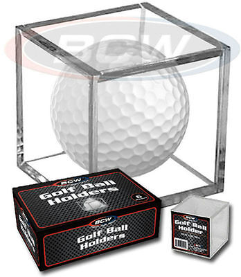 *1 Box Golf Ball Display Cases Stackable Cube Holders Stand - BCW - 6 Pack • 9.05£