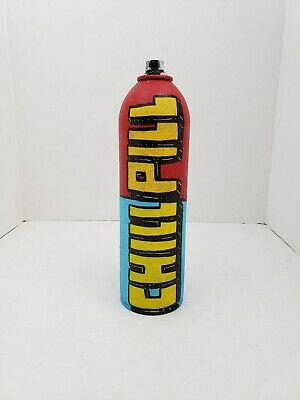 Graffiti Original Art Spray Paint Can By Nyc Street Artist PUKE. Chill Pill  • 25.33£