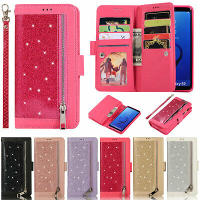 $ CDN12.07 • Buy Glitter Wallet Leather Flip Cover Case For Samsung A52 A72 A51 A12 A21S S21 S20