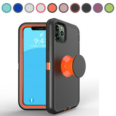 AU13.62 • Buy For IPhone 12 11 Pro Max XR XS 8 7 6 SE2 Shockproof Case Cover With Socket Stand