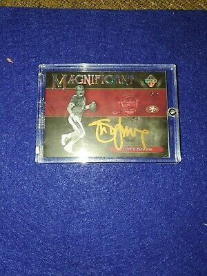 $300 • Buy 2018 Panini Majestic Magnificent Steve Young HOF On Card Auto 5/5 Gold 49ers