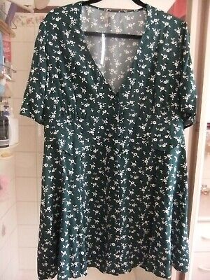 AU12.99 • Buy Ladies Asos Summer Spring Dress Green 16 Floral Fit & Flare New Tags Casual