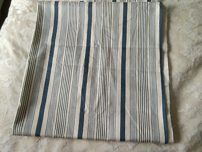 Fabric Remnant Cotton- Soft Furnishing-blue And Natural Stripes • 3.99£