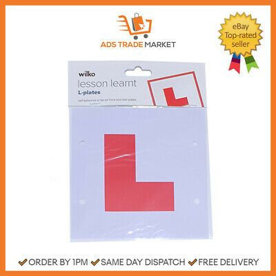 NEW Front And Rear L-Plates Learner Car Plates 2 Pack • 1.94£