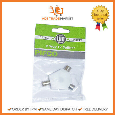 AU6.04 • Buy NEW PIFCO 2 Way Tv Splitter Adapter 1  Pack