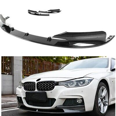 AU655.42 • Buy Car Front Bumper Spoiler Lip For 2012-2018 BMW F30 3 Series M Sport Carbon Fiber