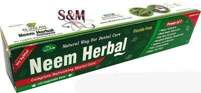 Neem Herbal Toothpaste (Flouride-Free)Power Of 7 Ingredients With Black Seed • 5.36£