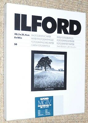 Ilford Multigrade IV Resin Coated 8  X 10  Photographic Paper Part Used • 1£