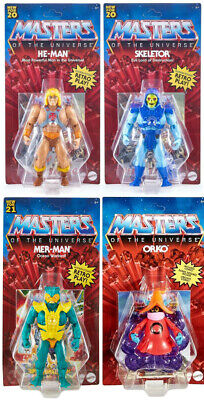 $74.95 • Buy ***LOT OF 4*** Masters Of The Universe Origins He-Man Skeletor Mer-Man Orko MOTU