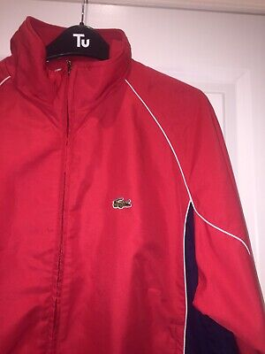 CHEMISE LACOSTE TRACKSUIT TOP TRACK Size M New Condition • 20£