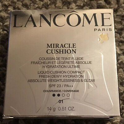 Lancome Miracle Cushion 01 Pure Porcelaine New • 20.99£