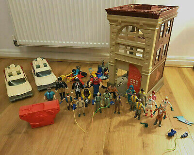 Ghostbusters Vintage Bundle Lot 80s Toys Firehouse Ecto 1 2 3 Ghosts Big Job Lot • 180£
