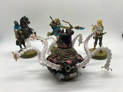 AU94.84 • Buy Breath Of The Wild Legend Zelda Amiibo Guardian Link Archer Rider Set Of 4