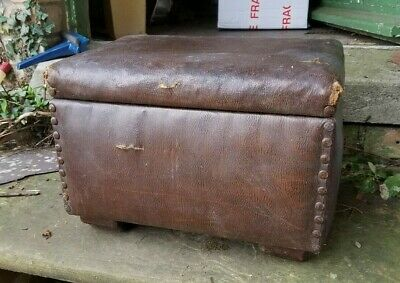 £24 • Buy Vintage Sewing Box, Foot Stool, Removable Tray