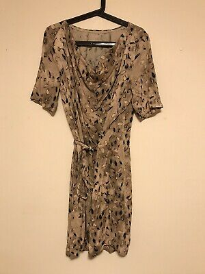AU95 • Buy RARE New Scanlan & Theodore Autumn Leaves Cowl Neck DRESS RRP$499 SOLD OUT