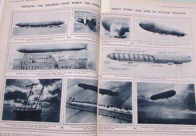 Illustrated London News July/dec 1915. Bound Vol. 840pages World War 1 Zeppelin  • 57.21£