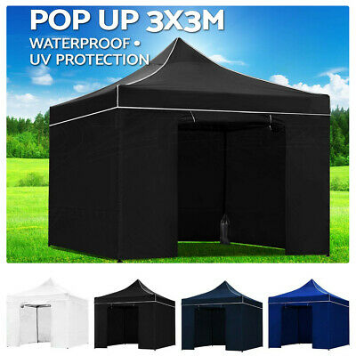 AU119.89 • Buy Outdoor Gazebo Pop Up Marquee 3x3m Outdoor Camping Gazebos Tent Folding Tents