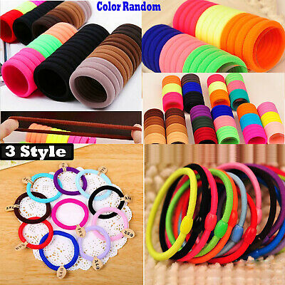 $ CDN1.54 • Buy 10pcs Cute Elastic Hair Rope Hair Bands Ponytail Holder For Girls Kids 3 Style
