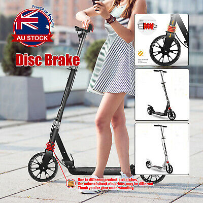 AU82.99 • Buy Foldable Hand Disc Brake Push Scooter Big Wheel 2 Supention Black/White D