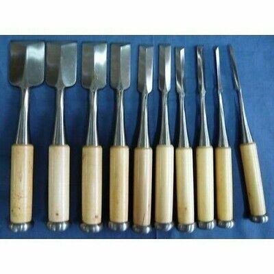 Unused Yoshihiro 10 Pcs Set Oire Japanese Vintage Carpentry Tool Chisel Nomi • 838.73£