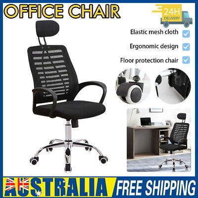 AU61.50 • Buy Office Chair Gaming Chair Computer Mesh Chair Executive Seating Study Seat Black
