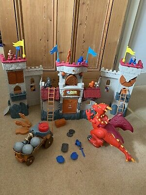 Imaginext Knights Castle With Interactive Dragon, Bolder Catapult, 5 Knights Etc • 62£