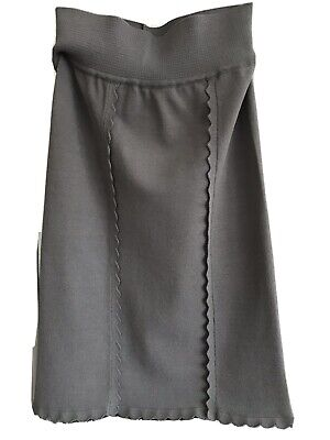 AU65 • Buy Scanlan And Theodore Crepe Straight Skirt Grey Pre Owned Size M
