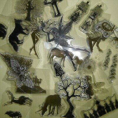 **CLEAR STAMPS*Bundle*LOTS X 19 Stamps** Animals*Trees*Flowers*++* • 1.85£