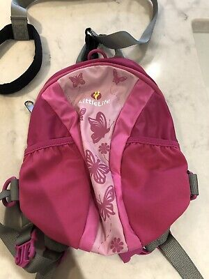Little Life Toddler Runaround Pink Butterfly Backpack With Reins • 6£