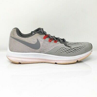 $ CDN56.80 • Buy Nike Womens Zoom Winflo 4 898485-010 Gray Running Shoes Lace Up Low Top Size 8