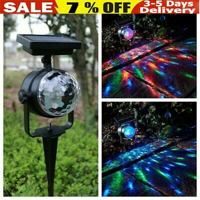 Solar Spot Lights LED Colour Changing Projection Stake Garden Party Stage Light • 10.78£