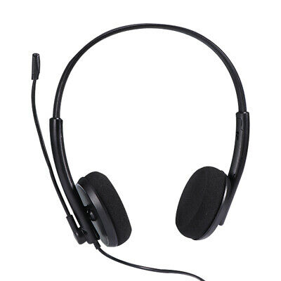 USB Stereo Wired Headset With Mic Headphone Microphone For Laptops Desktop PC ~ • 11.98£