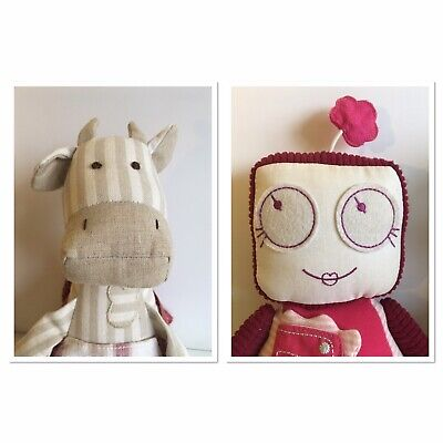 Mamas & Papas Botsy Robot & Claribel Cow Toys, Excellent Condition • 3.99£