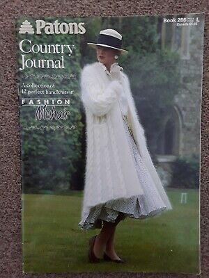 Vintage Patons Country Journal No286 Knitting Booklet, 12  Mohair Ladies Pattrns • 4£