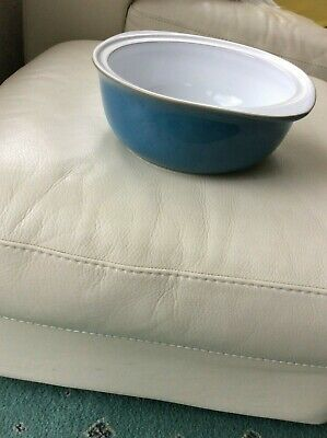 Denby Casserole Dish 10'' Azure Range Turquoise, New No Lid, Oven To Table Ware  • 25£