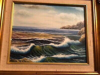 OIL PAINTING - OCEAN WAVES - Signed • 10£