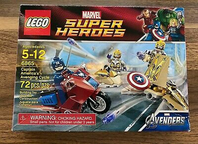 *NEW* LEGO 6865 Marvel Super Heroes Captain America's Avenging Cycle *Creases*  • 22.58£