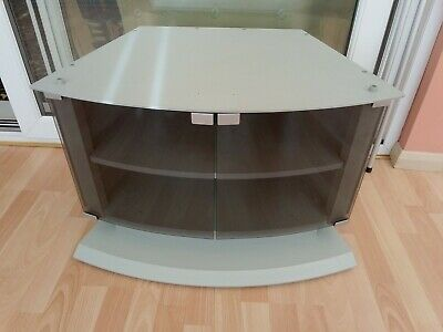 Sony TV Stand Cabinet Unit With Glass Doors & Shelf Grey Curved Collect Kent • 12£