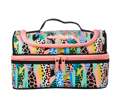 $ CDN40.55 • Buy NEW Girls Smiggle ANIMAL PRINT Double Decker Lunch Box Sandwich Bag School 🥰