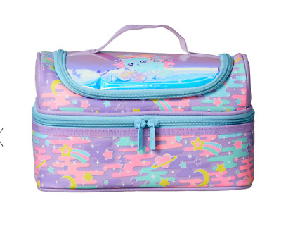 $ CDN40.55 • Buy Girls Smiggle Double Decker School Lunch Box Sandwich Bag LILAC KITTY CAT NEW 🥰