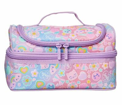 $ CDN35.26 • Buy 🥰 Girls Smiggle Stylin' Pink Double Decker Lunch Box Sandwich Bag Great Gift 💝