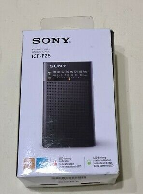 Sony ICF-P26 Portable AM/FM Radio - Black • 22£