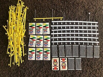 Tyco Slot Car Guard Rails And New Flags & Poles • 6.37£