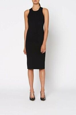 AU230 • Buy SCANLAN THEODORE Crepe Knit Scuba Dress In Black Size XS RRP $600