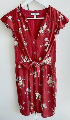 AU18 • Buy Forever New Floral Print Dress In Cherry Red Size 10