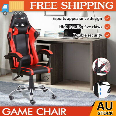 AU112.90 • Buy Gaming Chair Office Executive Computer Game Chairs Seating Racing Recliner RED